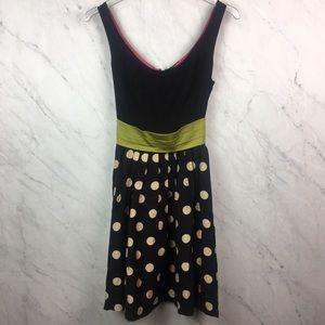 Anthropologie Polka Dot Cocktail Dress, Size 4